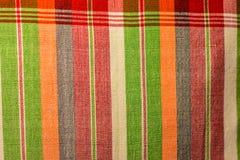 Testes padrões tecidos algodão Fotos de Stock