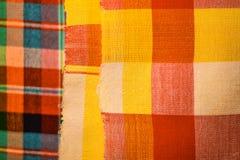 Testes padrões tecidos algodão Foto de Stock Royalty Free