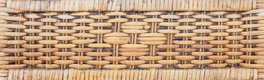 Testes padrões tecidos do rattan Fotografia de Stock