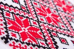 Testes padrões tradicionais ucranianos do bordado fotografia de stock royalty free
