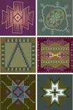 Testes padrões tribais primitivos Fotografia de Stock