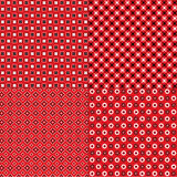 Testes padrões vermelhos do Bandana ilustração stock