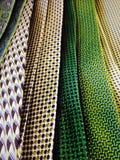 Testes padrões vibrantes e cópias da cor fotografia de stock