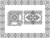 Testes padrões celtas Foto de Stock