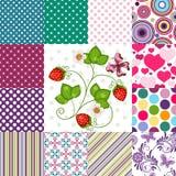 Testes padrões coloridos sem emenda da coleção Imagens de Stock