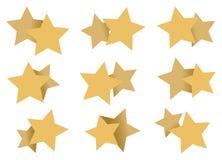 Testes padrões de estrelas dobro Art Element Isolated no branco Fotos de Stock