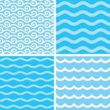 Testes padrões de onda sem emenda Foto de Stock Royalty Free