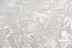 Testes padrões do gelo na pista de patinagem Imagens de Stock