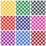 Testes padrões do guingão Fotografia de Stock