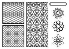 Testes padrões do Oriente Médio/islâmicos tradicionais Fotos de Stock Royalty Free