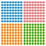 Testes padrões do Tablecloth Foto de Stock