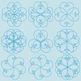 Testes padrões florais Foto de Stock Royalty Free