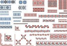 Testes padrões para o ponto do bordado Fotos de Stock