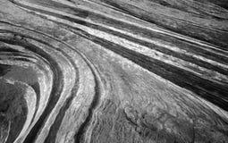 Testes padrões preto e branco da rocha da onda do fogo Foto de Stock Royalty Free