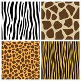 Testes padrões sem emenda da pele animal Fotos de Stock