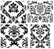 Testes padrões sem emenda do damasco ajustados Fotos de Stock