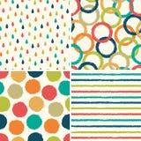 Testes padrões sem emenda do fundo do moderno em cores retros Fotografia de Stock Royalty Free