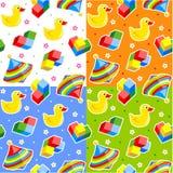 Testes padrões sem emenda dos brinquedos Imagens de Stock Royalty Free