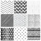 Testes padrões sem emenda tirados mão do fundo do bstract do  de Ð Imagem de Stock