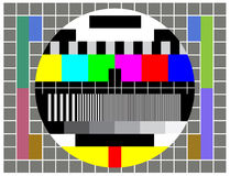 Testez l'écran de TV Images libres de droits