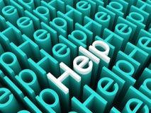 testi di aiuto 3D Fotografie Stock Libere da Diritti