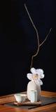 Testilleben med orkidén Arkivbild