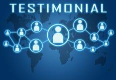 testimonial Image stock