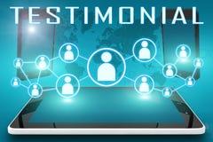 testimonial Photo stock