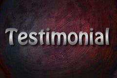 Testimonial Concept Stock Image
