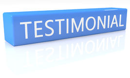 Testimonial Royalty Free Stock Images