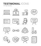 Testimonial and Feedback. Flat Design Illustration: Testimonial and Feedback vector illustration