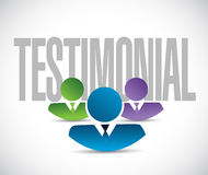 Testimonial team sign illustration design graphic Stock Photos
