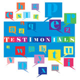 Testimonials. An abstract illustration of Testimonials Royalty Free Stock Photography