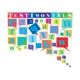Testimonials. An abstract illustration of Testimonials Stock Photography