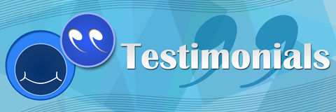 Testimonials Blue Squares Background Royalty Free Stock Photography