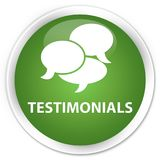 Testimonials (comments icon) premium soft green round button Stock Images