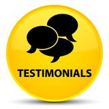Testimonials (comments icon) special yellow round button Royalty Free Stock Image