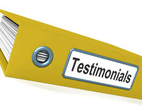 Testimonials File Showing Recommendations And Tributes Royalty Free Stock Photography