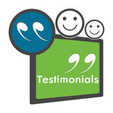 Testimonials Green Blue Circle Square Stock Photography