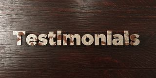 Testimonials - grungy wooden headline on Maple - 3D rendered royalty free stock image. This image can be used for an online website banner ad or a print Stock Illustration