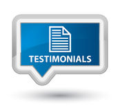 Testimonials (page icon) prime blue banner button royalty-vrije illustratie