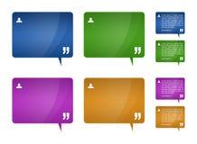 Testimonialsblöcke für Web-Schablonenauslegung Lizenzfreie Stockbilder