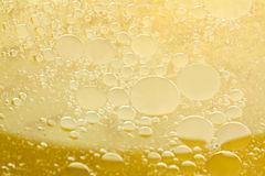 Testing abstract yellow liquid. Research in Stock Photo