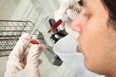 Testing blood Royalty Free Stock Image