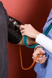 Testing Blood Pressure Royalty Free Stock Photography