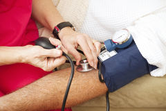 Testing Blood Pressure - Closeup Royalty Free Stock Image