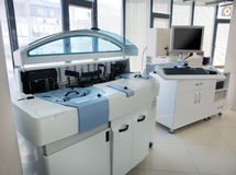 Testing blood samples in laboratory Royalty Free Stock Image