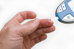 Testing Blood Sugar On Glucometer Stock Photos