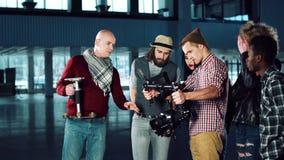 Testing camera gyro stabilizer stock footage