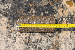 Testing for Compaction using Coring. Test Royalty Free Stock Photography